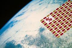 Tarjeta y planeta Imagen de archivo libre de regalías