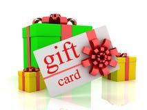 Tarjeta y regalos del regalo stock de ilustración