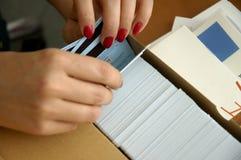 Tarjetas 2 Fotografía de archivo libre de regalías