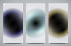 Tarjetas abstractas del profesional y del diseñador Fotos de archivo libres de regalías