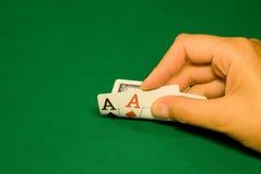 Tarjetas agradables en el casino Foto de archivo
