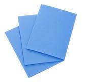 Tarjetas azules fotos de archivo libres de regalías