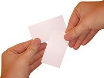 Tarjetas blancas vacías Foto de archivo libre de regalías