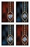 Tarjetas brillantes del póker, vector Fotos de archivo