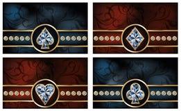 Tarjetas brillantes determinadas del póker Imágenes de archivo libres de regalías