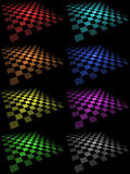 Tarjetas Checkered Imagenes de archivo