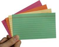 Tarjetas coloridas Imagen de archivo libre de regalías