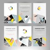Tarjetas con formas geométricas stock de ilustración