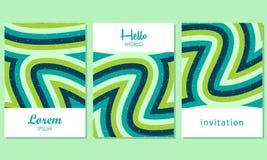 Tarjetas creativas con el fondo abstracto - vector stock de ilustración
