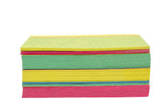 Tarjetas de índice apiladas brillantemente coloreadas Imagen de archivo libre de regalías