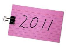 Tarjetas de índice con el número 2011 Fotos de archivo
