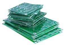 Tarjetas de circuitos empiladas Fotografía de archivo libre de regalías
