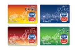 Tarjetas de crédito coloridas Fotos de archivo libres de regalías