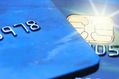 Tarjetas de crédito (DoF bajo) Fotografía de archivo