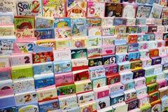 Tarjetas de cumpleaños Foto de archivo libre de regalías