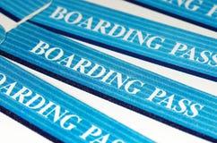 Tarjetas de embarque azules Imagen de archivo libre de regalías
