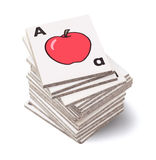 Tarjetas de enseñanza del alfabeto Fotografía de archivo libre de regalías