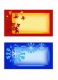 Tarjetas de felicitación 2 Fotos de archivo libres de regalías