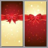 Tarjetas de felicitación con los arcos del blanco y el espacio de la copia Foto de archivo libre de regalías