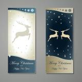 Tarjetas de felicitación con los ciervos Fotos de archivo libres de regalías