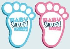 Tarjetas de felicitación de la invitación de la ducha de bebé Imagen de archivo
