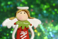 Tarjetas de felicitación de la Navidad, ángel divertido Fotos de archivo libres de regalías