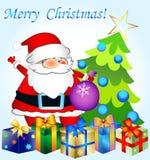 Tarjetas de felicitación de la Navidad Fotos de archivo