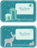 Tarjetas de felicitación de la Navidad Fotografía de archivo