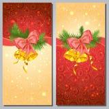 Tarjetas de felicitación de la Navidad Foto de archivo