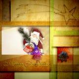 Tarjetas de felicitación de la Navidad Papá Noel Fotos de archivo