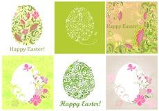 Tarjetas de felicitación de Pascua Imágenes de archivo libres de regalías