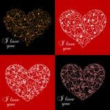 Tarjetas de felicitación de Valentine Day Fotografía de archivo