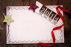 Tarjetas de felicitación del Año Nuevo y de la Navidad Imágenes de archivo libres de regalías