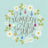 Tarjetas de felicitación del diseño al día Pascua feliz stock de ilustración