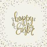 Tarjetas de felicitación del diseño de la cubierta para Pascua feliz stock de ilustración