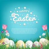 Tarjetas de felicitación felices de Pascua Fotos de archivo