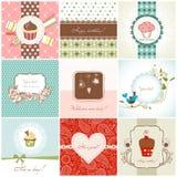 Tarjetas de felicitación fijadas Fotografía de archivo libre de regalías