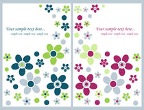 Tarjetas de felicitación florales Fotografía de archivo