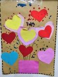 Tarjetas de felicitación hechas en casa, amor imagen de archivo libre de regalías