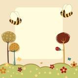 Tarjetas de felicitación retras stock de ilustración