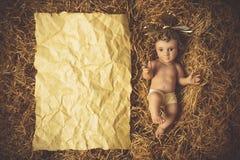 Tarjetas de Jesus Christmas del bebé Fotos de archivo libres de regalías