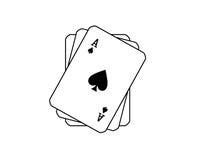 Tarjetas de juego. stock de ilustración