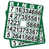 Tarjetas de juego del bingo Fotos de archivo