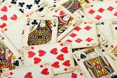 Tarjetas de juego del póker Imagenes de archivo