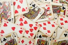 Tarjetas de juego del póker Imágenes de archivo libres de regalías