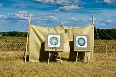 Tarjetas de la blanco para el shooting del tiro al arco Imágenes de archivo libres de regalías