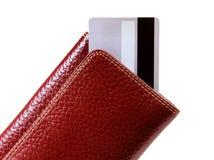 Tarjetas de la carpeta y de crédito foto de archivo libre de regalías