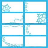 Tarjetas de la escama de la nieve Fotografía de archivo libre de regalías