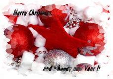 Tarjetas de la Feliz Navidad y de una Feliz Año Nuevo Fotografía de archivo