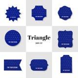 Tarjetas de la forma del Rhombus y del triángulo de la colección Imagen de archivo